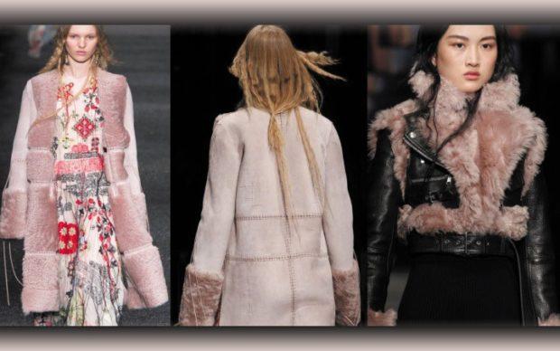 модные женские дубленки 2019-2020: дубленка розовая длинная