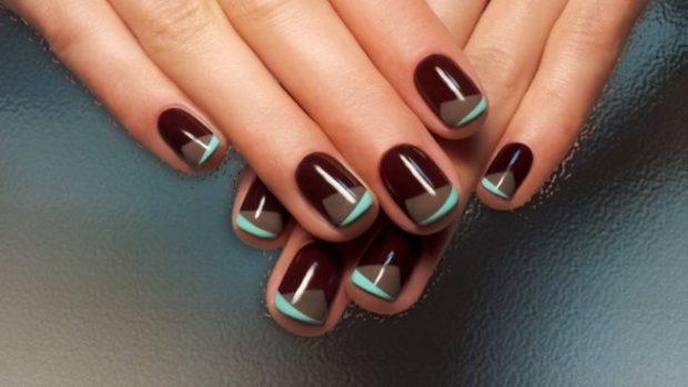 Модный дизайн ногтей в 2019-2020 году: темные ногти абстракция