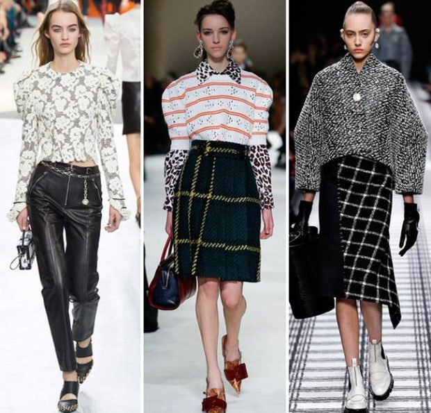 модный милан 2018: кофты и блузки с большими рукавами