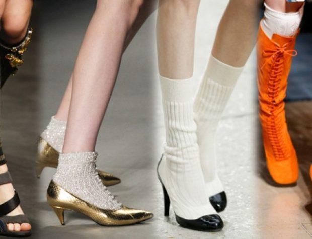 модный милан 2018: носки под туфли