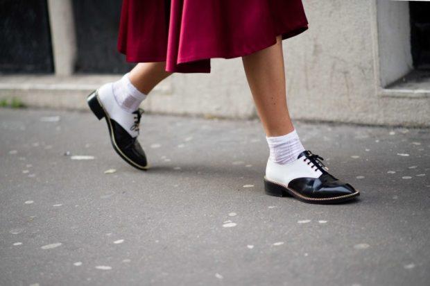 модный милан 2018: носки под лофферы