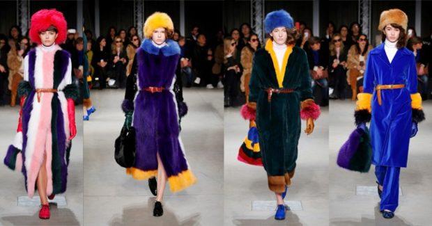 модный милан 2018: длинные шуб в пол цветные
