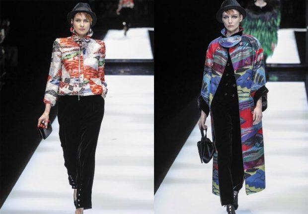 модный милан 2018: куртка цветная плащ цветной