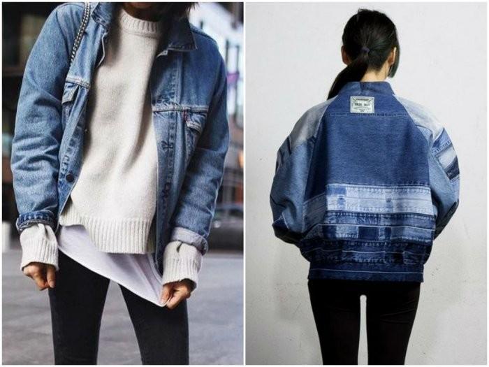 модный милан 2018: джинсовые куртки широкие