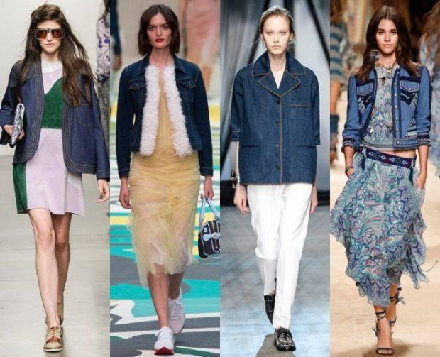 модный милан 2018: куртка джинсовые куртки короткие