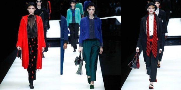 модный милан 2018: брюки зеленые черные