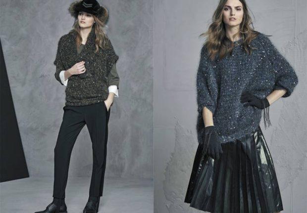 модный милан 2018: сивтер серый большой