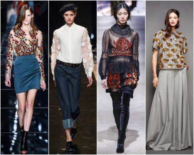 модный образ зима 2018: романтический образ юбки платья брюки