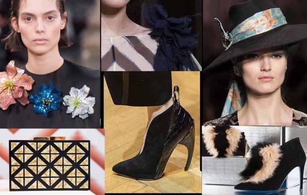 модные образы зима 2018: зимние аксессуары сумки шапки обувь