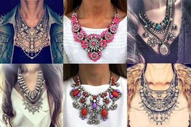 модные образы зима 2019-2020: массивные украшения на шею из серебра