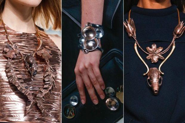 модные образы зима 2018: массивные украшения на шею