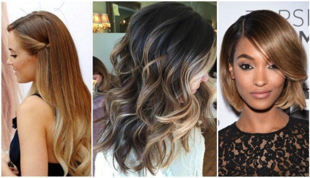 модное окрашивание волос 2018: омбре на короткие и длинные волосы