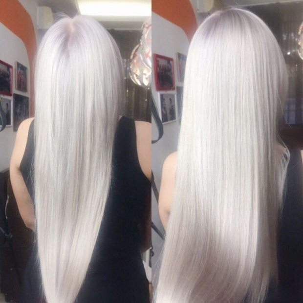модное окрашивание волос 2018: холодный блонд пепельный