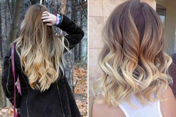 модное окрашивание волос 2018: обмре на темные волосы