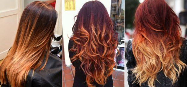 модное окрашивание волос 2019-2020: омбре на каштановые волосы
