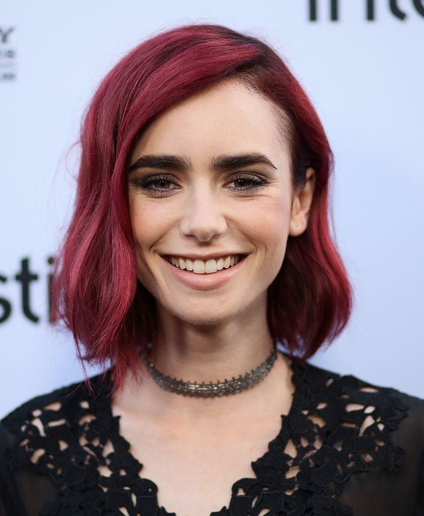 модное окрашивание волос 2019-2020: бордовый цвет волос