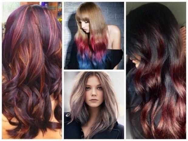 модное окрашивание волос 2019-2020: колорирование на темные волосы