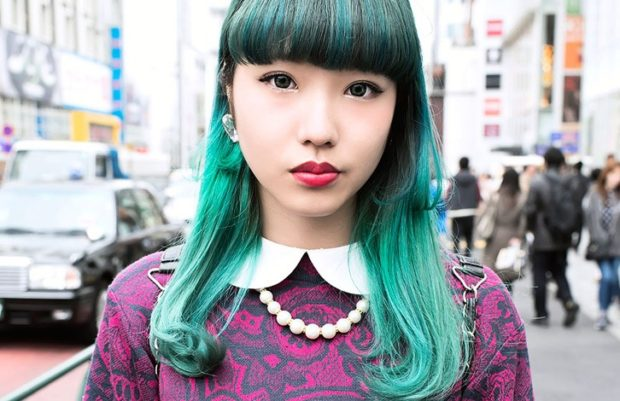 модные окрашивания волос 2018: зеленые волосы