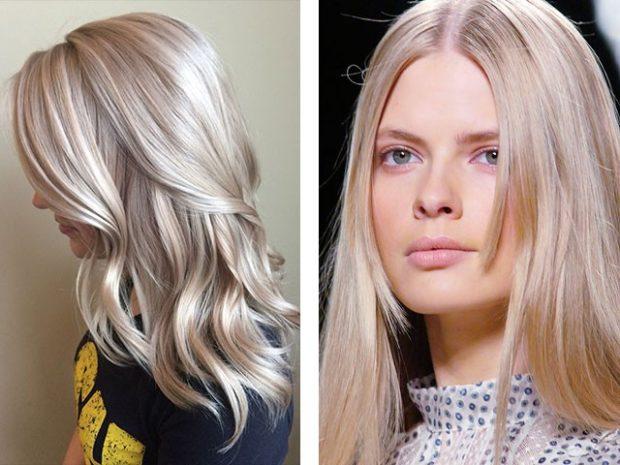 модное окрашивание волос 2019-2020: блондинки с розовым оттенком