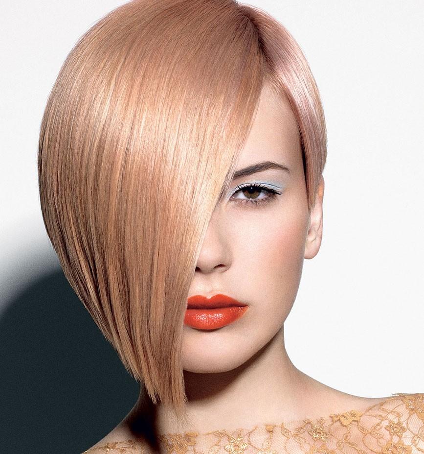 модное окрашивание волос 2018: персиковый оттенок ближе к золотому