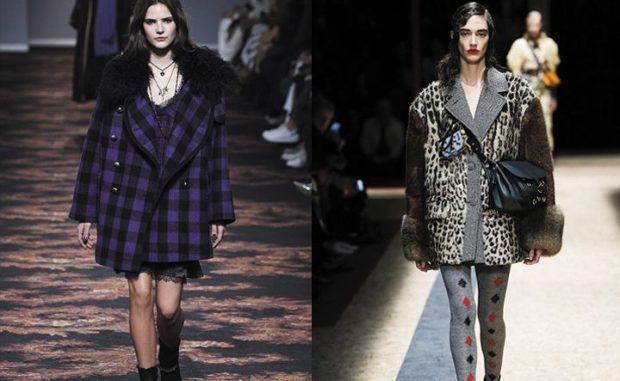 модные пальто осень зима 2019-2020: пальто в клетку тигровое оверсайз