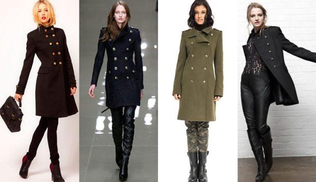 модные пальто осень-зима 2019-2020: пальто шинель черное зеленое кроткие