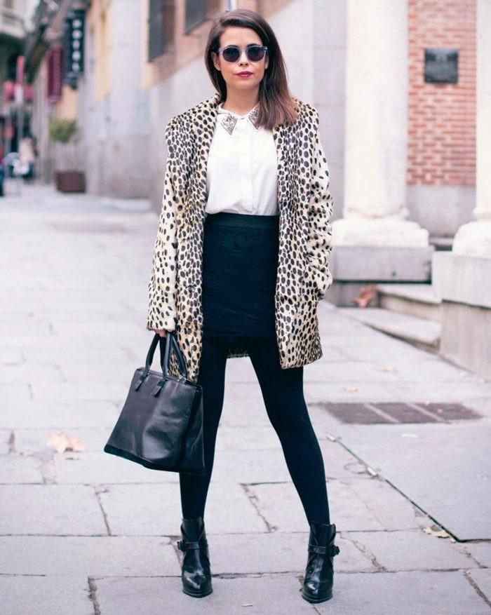 модны пальто осень-зима: пальто пиджак леопард