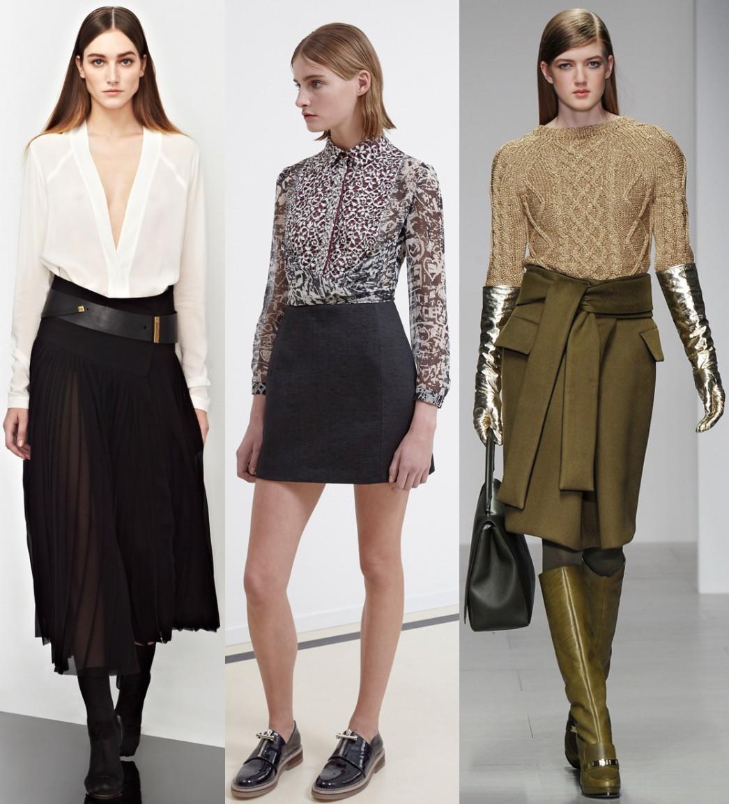 модные юбки 2018: миди черная короткая классика зеленая с поясом а-силуэт