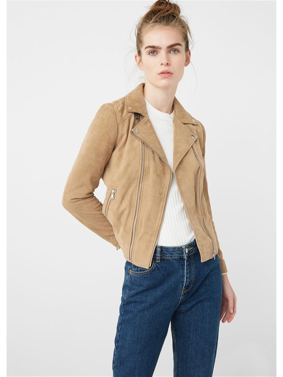 Модные женские куртки 2019-2020 года: куртка косуха бежевая