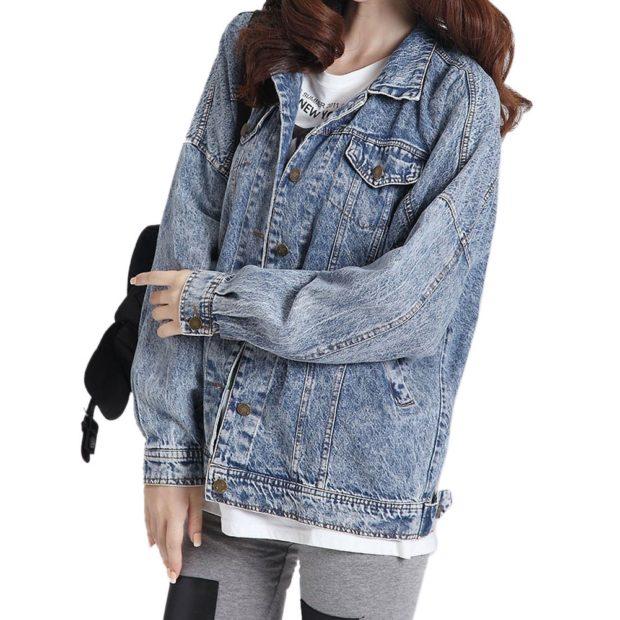 Модные женские куртки 2019-2020 года: куртка джинсовая удлиненная