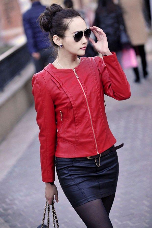 Модные женские куртки 2019-2020 года: куртка короткая красная
