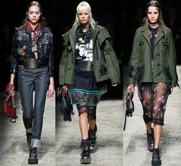 Модные женские куртки 2019-2020 года: стиль милитари черная зеленая с карманами