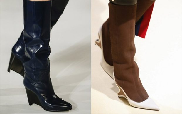 модные сапоги осень зима 2019-2020: сапоги с интересными носками