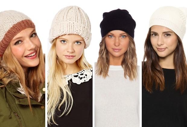 модные высеянные шапки 2018: шапки вязанные белые черная