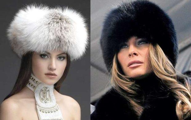 Модные зимние шапки в 2019-2020 году: шапки меховые белая короткая черная