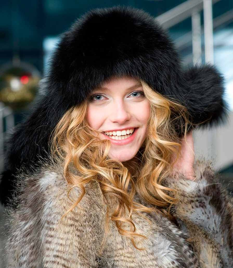 Модные зимние шапки в 2018 году: шапка-ушанка меховая