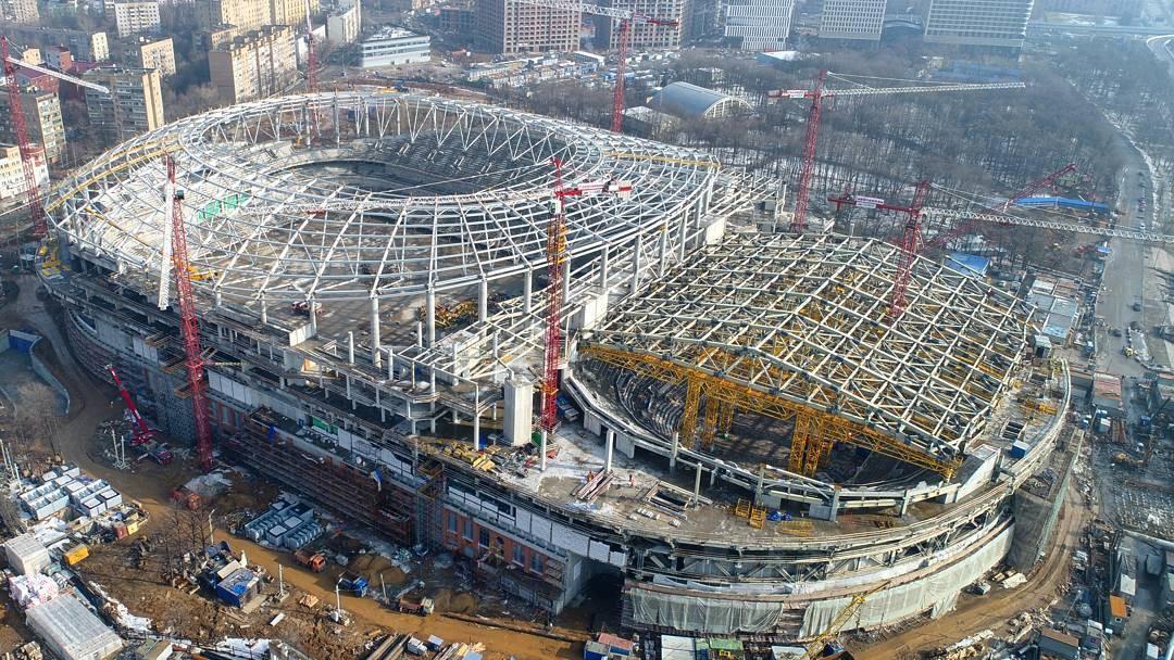 стадион динамо москва фото строительства приготовления