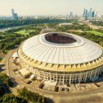 Стадион Лужники, вид сбоку