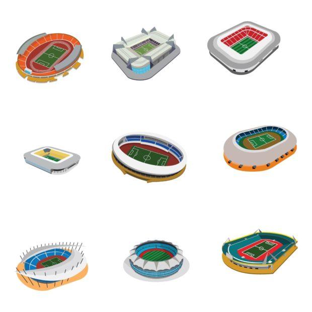 Геометрические формы футбольных стадионов