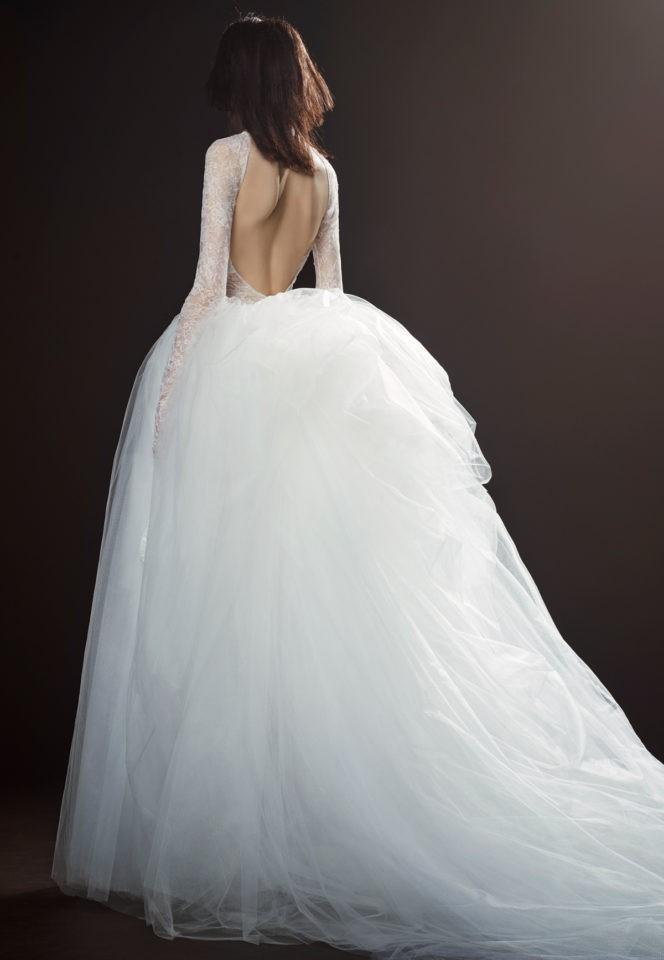 Коллекция свадебных платьев Vera Wang Spring/Summer 2018 года:The Therese пышная юбка спина открытая