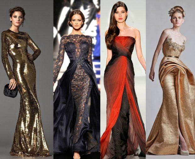 вечерние платья на Новый Год: платья длинные по фигуре