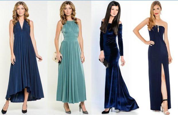 вечерние платья на Новый Год: платья в пол без рукава