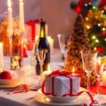 Сервировка прямоугольного стола к Новому году 2018