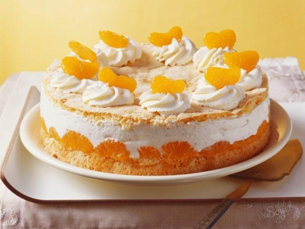 Новогодний торт «Мандариновый»