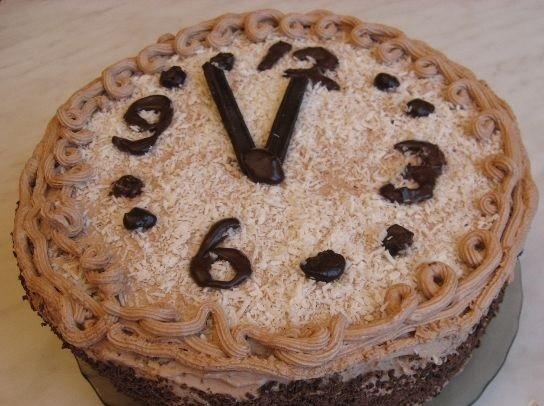 Новогодний торт «Полночь»