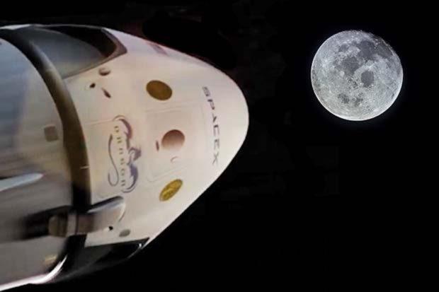 Облет Луны NASA в 2018 году
