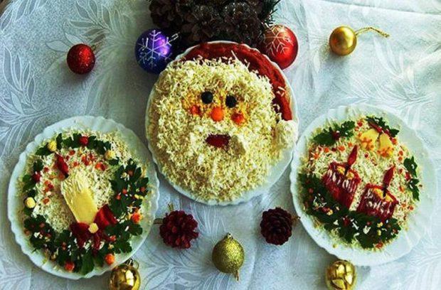 Простые рецепты салатов на Новый год 2019