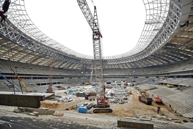 Стадион Лужники 2018 год