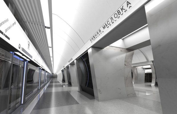 Станция метро «Нижняя Масловка» в 2018 году