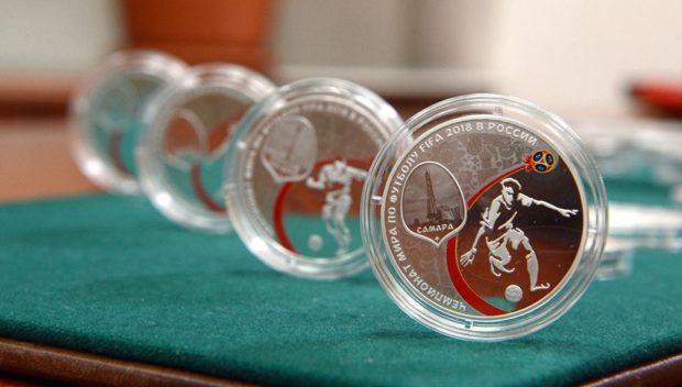Монеты в честь ЧМ по футболу 2018